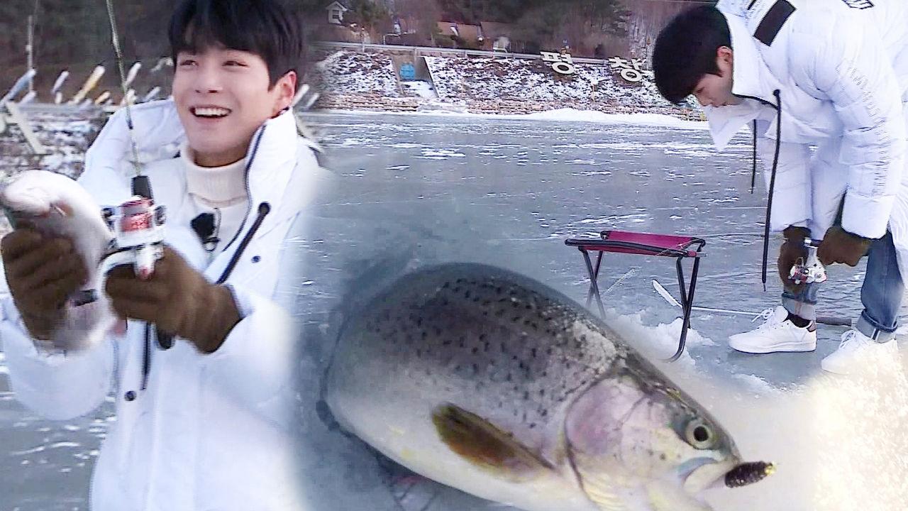 JR, 강원의 아들 모습 보여주는 '송어 낚시 첫 성공'
