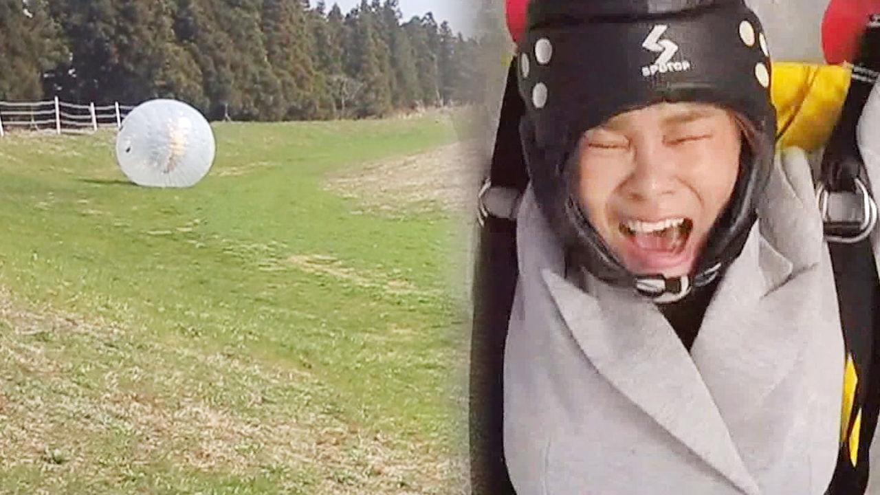 경맑음, 스카이다이빙을 잇는 빅 볼 체험 '유체이탈 재현'