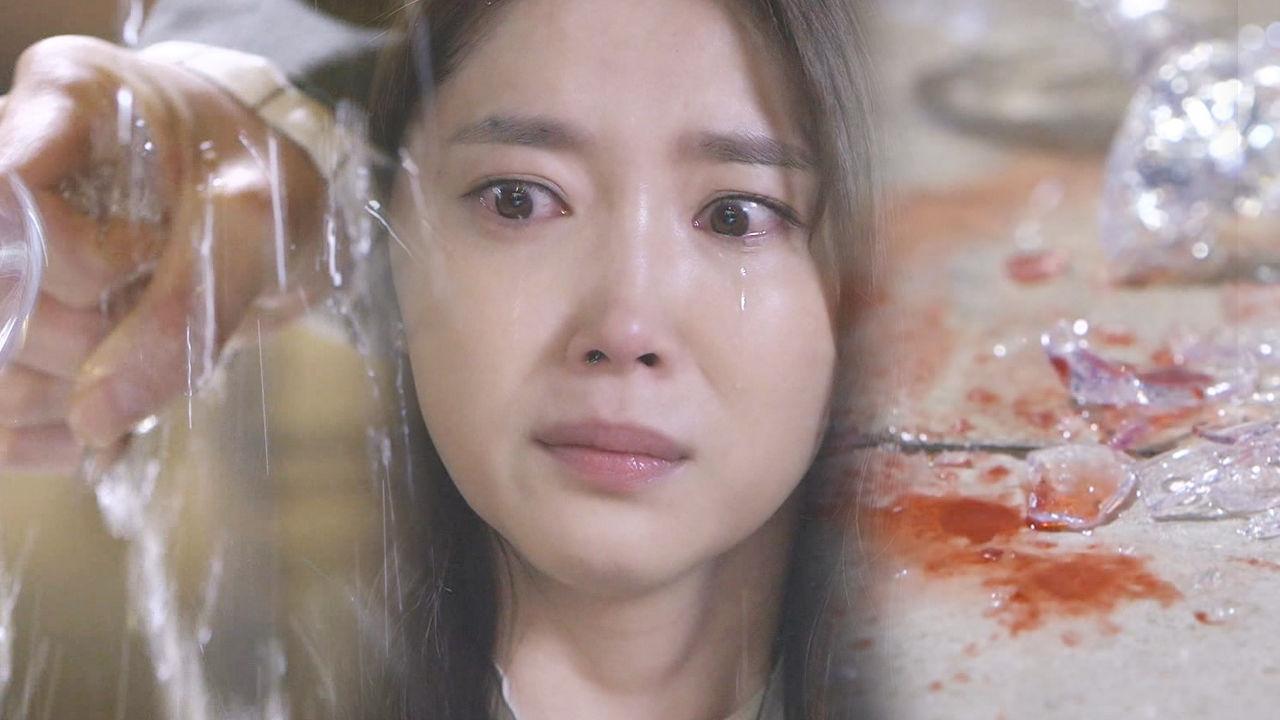 오윤아, 박광현 외도 현장에 소름 끼치는 와인 잔 깨기
