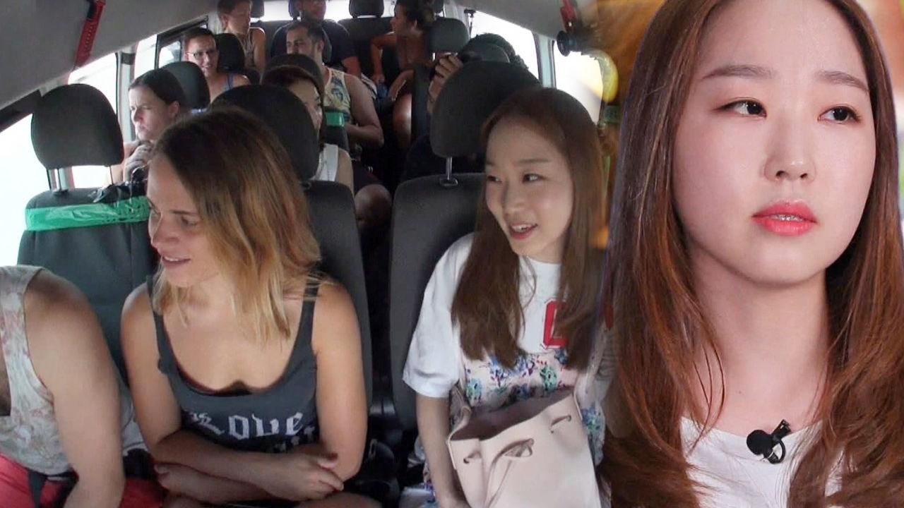 한수민, 외국인에 해맑게 전파한 한국어 대박