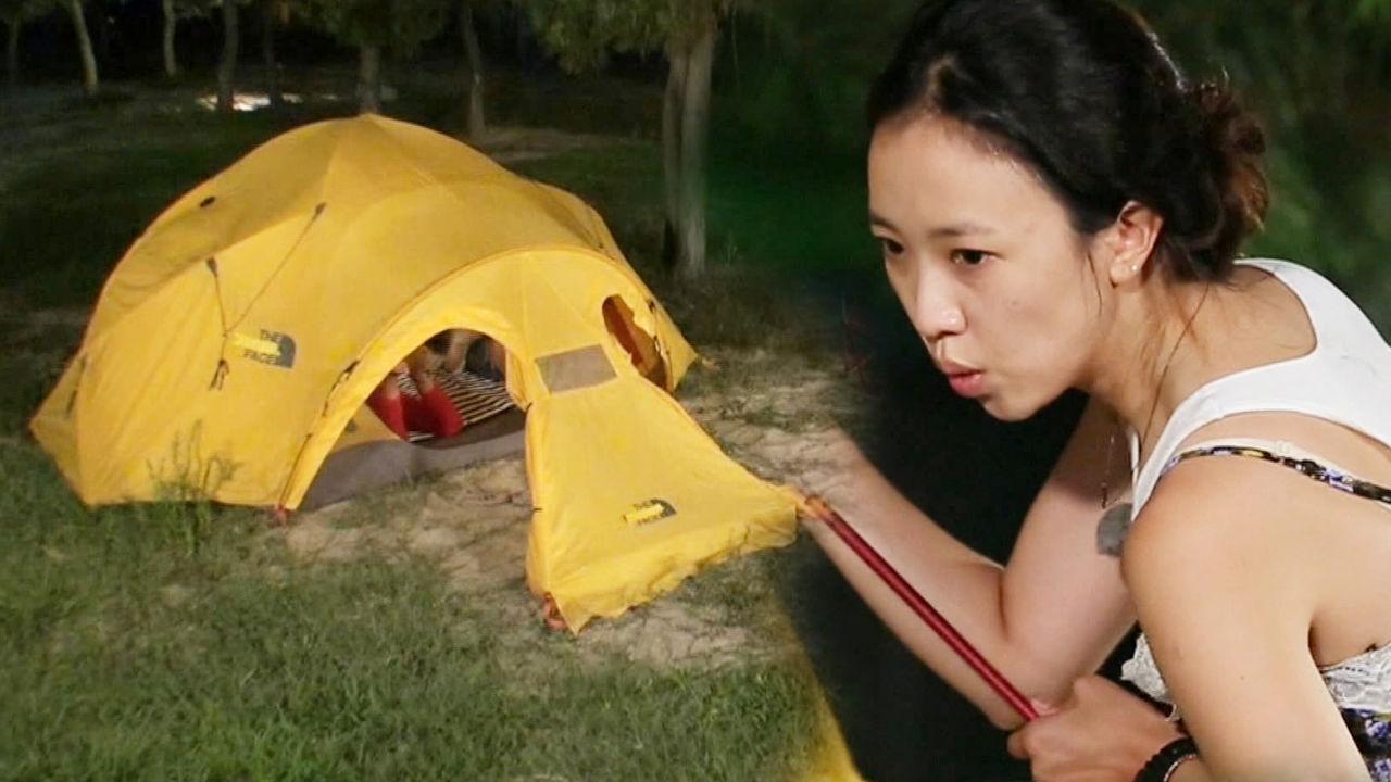 전혜진, 이천희 없이 텐트 치기 성공적