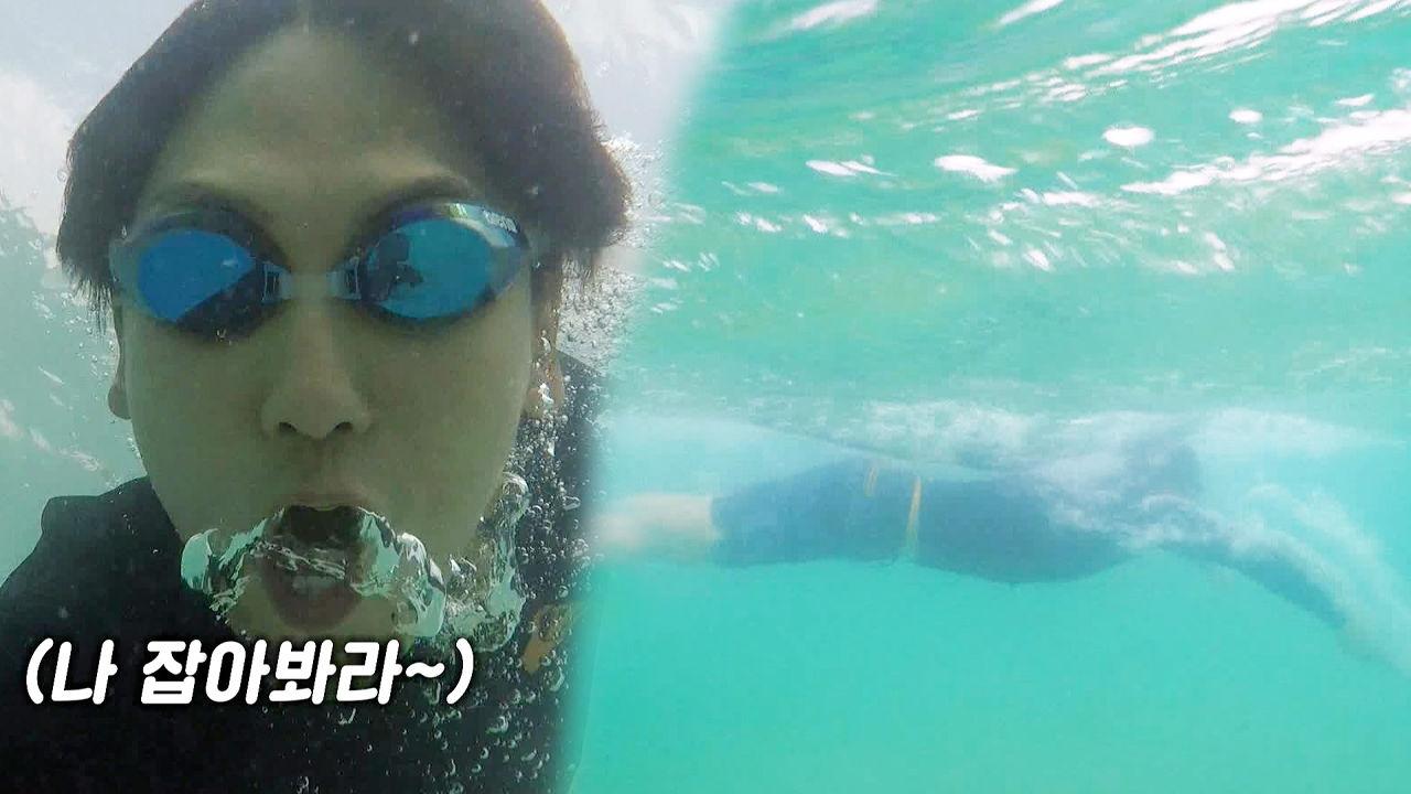 우블리, 바다 물살 가르는 수영실력 선출의 위엄