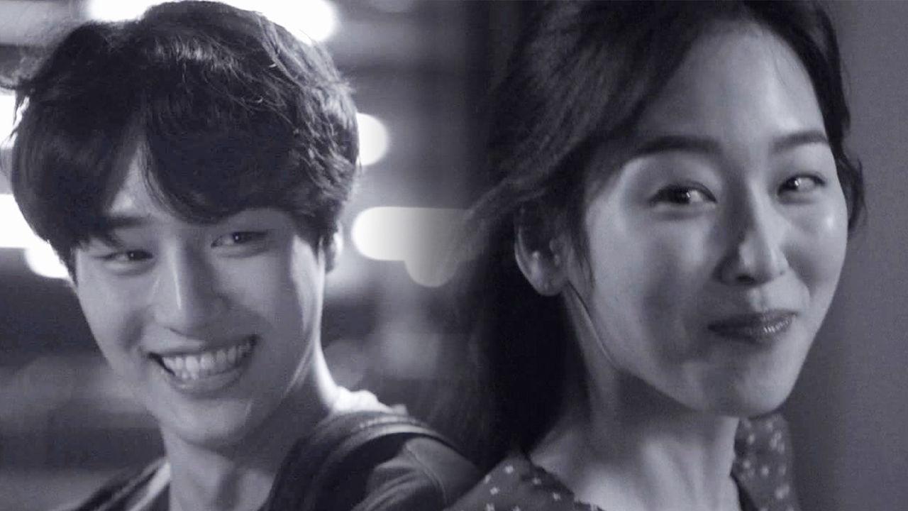 서울행 기차에 오르는 진짜 커플 사랑의 미소