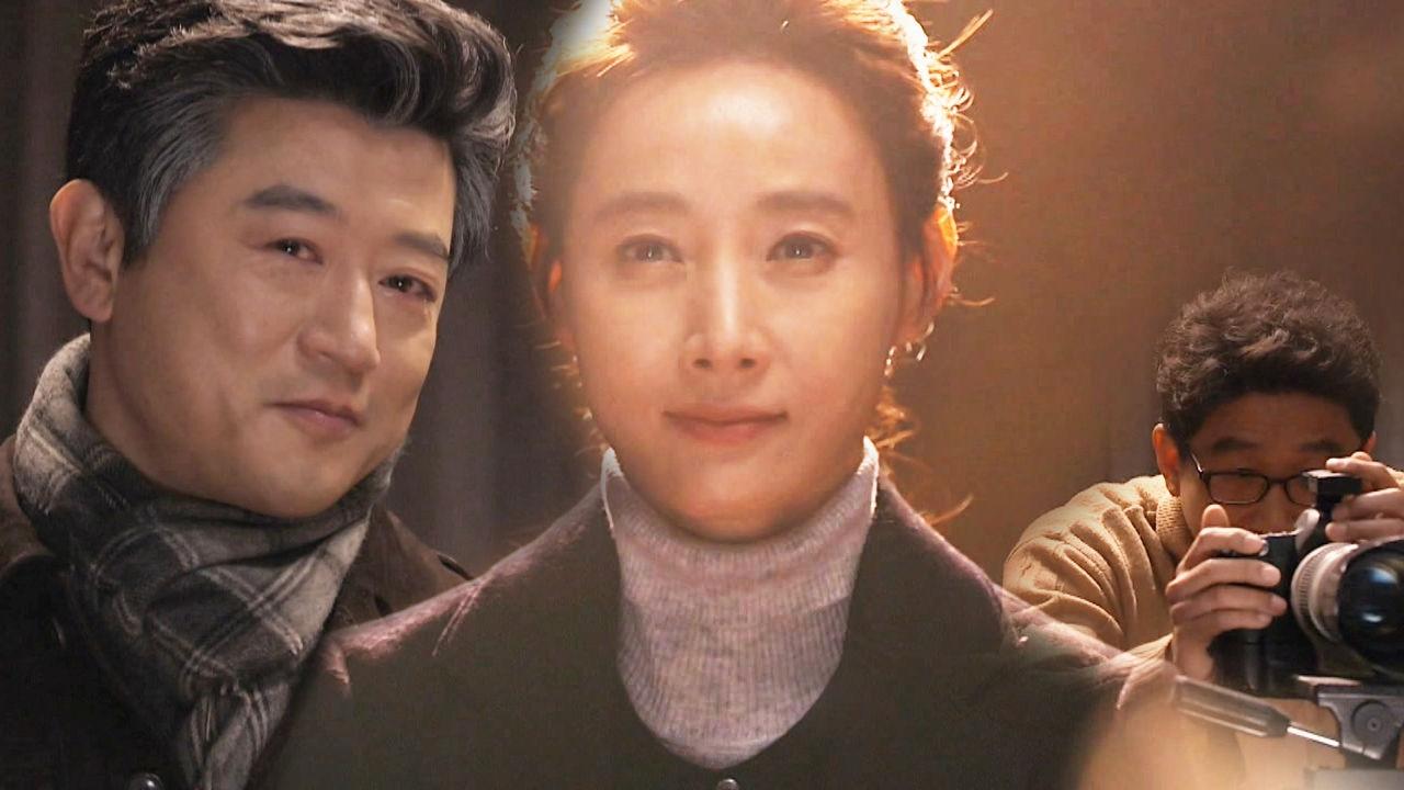 박상민, 슬프도록 아름다운 도지원 영정 촬영에 '애써 미소'